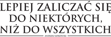 """TenStickers. Naklejka dekoracyjna cytat Krew Elfów. Naklejka dekoracyjna z cytatem z książki pisarza fantasy Andrzeja Sapkowskiego pod tytułem """"Krew Elfów""""."""