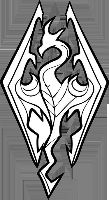 TenVinilo. Vinilo decorativo logo Skyrim. Sticker decorativo del emblemático juego de rol Skyrim. Decora tu habitación con el logotipo de este juego y adentrate un poco más en la aventura.