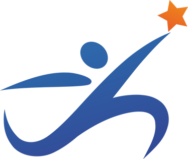 TenStickers. Läufer mit Stern Aufkleber. Ein Läufer mit einem Stern als Wandtattoo - ideal für die Sporthalle.