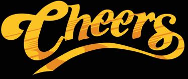 """TenVinilo. Vinilo logo Cheers color. Adhesivo a todo color del característico logotipo de tu serie favorita de los años 80 basada en un bar """"where everybody knows your name"""""""