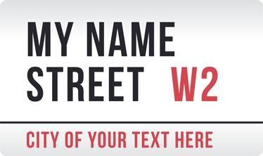 TenStickers. Personalisable London Street Sign Sticker. Wall Stickers - London inspired design. Select a size that suits you and enter your personalised text during checkout.