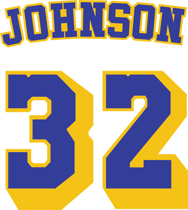 TenStickers. Magic Johnson Number Sticker. Were you a fan of the Los Angeles Lakers of the 80s? Did you favourite player wear number 32? Well here's the sticker that you were looking for.