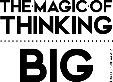TENSTICKERS. 思考の大きな壁のステッカー. ウォールステッカー-動機付け-「大きな思考の魔法」オリジナルテキストデザイン。デビッドjに触発されたシュワルツ。