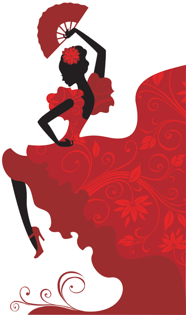 TenStickers. Flamenco Dancer Wall Sticker. A vinyl decal for those Flamenco lovers from our collection of red wall stickers! A burst of rhythm and colour with this design of flamenco dancer.