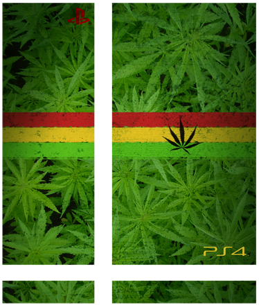 TenStickers. Marijuana PlayStation 4 Skin. PS4 Skins- Customise your PlayStation 4 and make it original and distinctive with this marijuana themed design.
