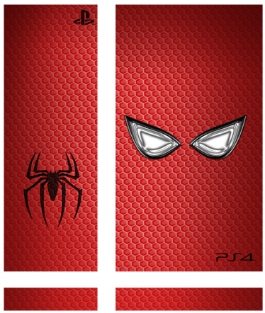 TenStickers. Spiderman PlayStation 4 Skin. PS4 Skins-Customise your PlayStation 4 and make it original and distinctive with this Spiderman themed design.High quality stickers and decals