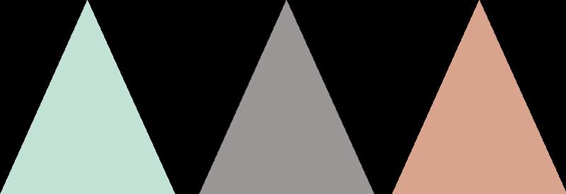 TenStickers. Muursticker driekleurige driehoeken. Deze muursticker omtrent allerlei driehoeken in drie sfeervolle kleuren. Een leuk en vrolijk idee ter decoratie van een kinderkamer.