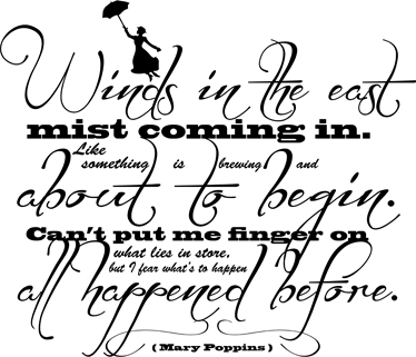 TENSTICKERS. メアリー・ポピンズ引用ウォールステッカー. ウォールステッカー-メアリーポピンズテーマデザイン。ミュージカルファンタジー映画のメアリーポピンズの冒険に触発された壁の引用アート。
