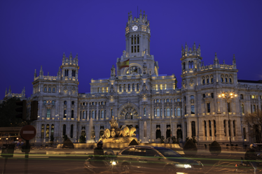 TenStickers. Plaza de Cibeles Wall Mural. Photo Mural - Shot of the legendary Plaza de Cibeles in Madrid. Available in various sizes.