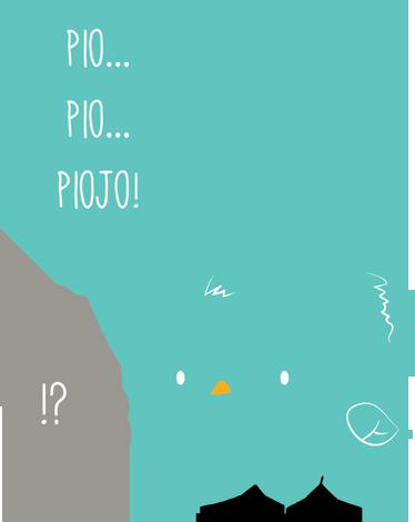 TenVinilo. Pegatina infantil pollito Lolo piojo. Adhesivo para niños con un diseño de Pablo Mateo (The Vode) en la que se refleja una divertida conversación entre un pajarito y un piojo que no parece entender nada.