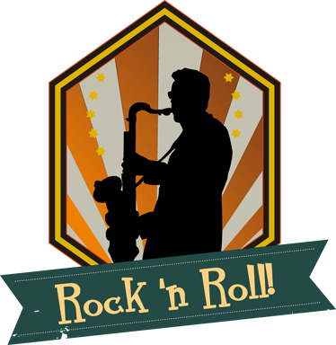 "TenStickers. Rock ""n"" Roll Wall Sticker. Room Stickers - Rock n Roll design.Great decals for decorating your home."