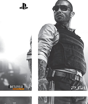 TenStickers. Vinil Skin para ps4 Battlefield Hardline. Joga sempre em grande estilo personalizando a tua consola Playstation com este magnífico autocolante skin para PS4do jogo Battlefield Hardline!