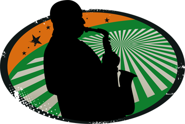 TENSTICKERS. サックス奏者のシルエットのステッカー. サックス奏者の装飾的な音楽ステッカー。特にこの楽器を愛する人のためにあなたの壁を飾るのに最適な壁デカール!