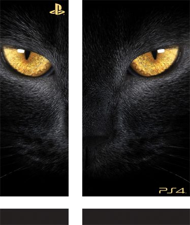 TenStickers. Black Feline PlayStation 4 Skin. PS4 Skins; Customise your PlayStation 4 console with this high quality decal vinyl. Striking design of the face of a black feline.