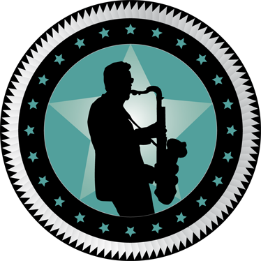 TenStickers. Krožna nalepka saksofonista. Okrasna glasbena nalepka saksofonista. Popolna stenska nalepka za okrasitev sten, še posebej za tiste, ki imajo radi ta instrument!