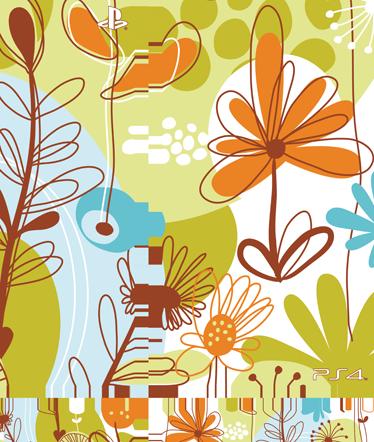TenVinilo. Vinilo para PS4 textura floral. Te gusta jugar con tu PlayStation pero estás aburrido de esa carcasa monocolor ¿verdad? Te ofrecemos pegatinas coloridas como esta con una textura abstracta de flores con las que darle vida a tu consola.