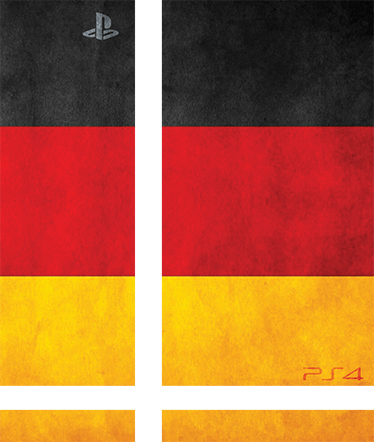 TenStickers. Germany PlayStation 4 Skin. PS4 Skins; Customise your PlayStation 4 console with this high quality decal vinyl. German flag design. Decorate and protect your PS4