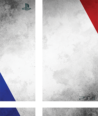 TenStickers. France PlayStation 4 Skin. PS4 Skins; Customise your PlayStation 4 console with this high quality decal vinyl. French flag design. Decorate and protect your PS4