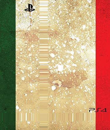 TenStickers. Sticker PlayStation 4 Italië. Decoreer uw PlayStation 4 door deze uit te rusten met een hoge kwaliteit sticker. Dit ontwerp is van de Italiaanse vlag.