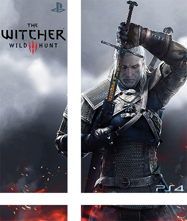 TenVinilo. Vinilo para PS4 The Witcher 3. Vinilo de uno de los mejores juegos que hay para Play Station 4. The Witcher convertirá tu consola en una pieza única igual que el juego y sus increíbles gráficos.
