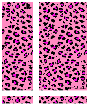 TenStickers. Pink Animal Print PlayStation 4 Skin. PS4 Skins: Customise your PlayStation 4 console with this high quality decal vinyl. Animal print themed design.