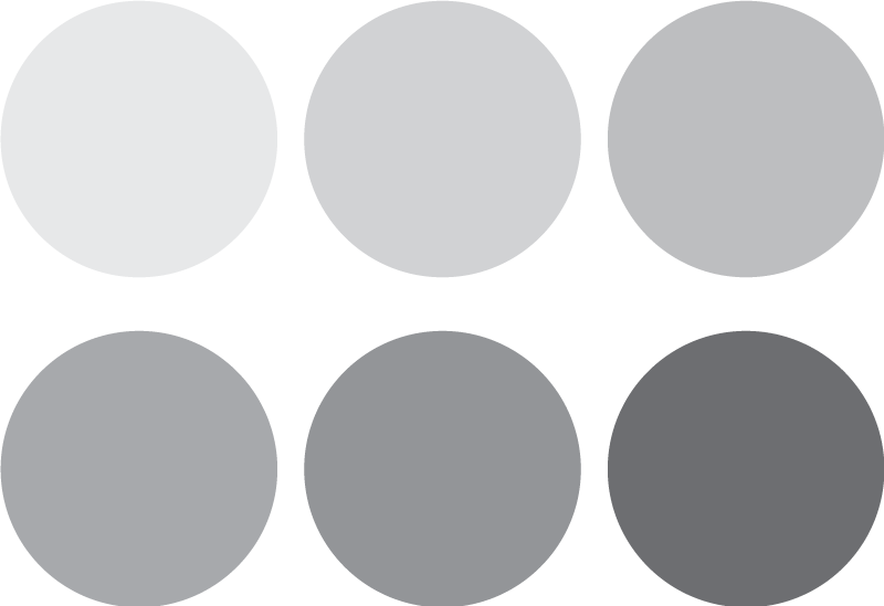Vinilo decorativo crculos de colores grises TenVinilo