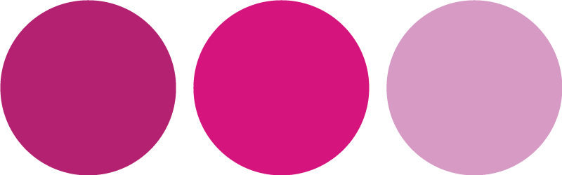 TenStickers. Pink Coloured Circles Sticker. A sticker with a collection of circles in different shades of pink.