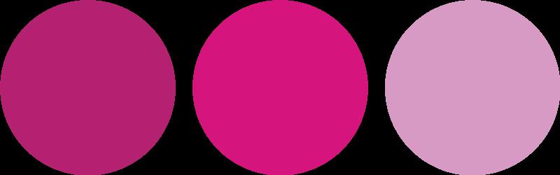 Vinilo Decorativo Círculos De Colores Rosas Tenvinilo