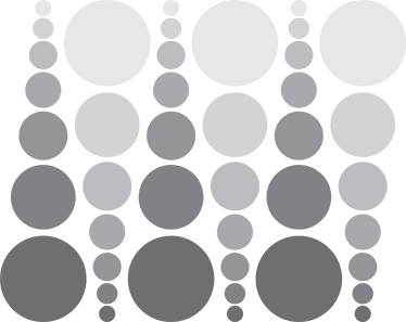 TenStickers. Wall sticker cerchi grigi. Wall sticker decorativo composto da un set di stickers di cerchi di varie misure e con tutte le tonalità del grigio.