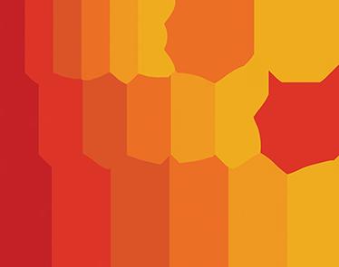 Sticker cercles couleurs chaudes - TenStickers