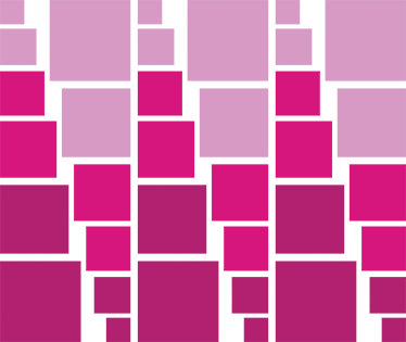 TenStickers. Pink Geometric Squares Sticker. Trendy sticker with with different size and coloured squares. Decorate any room in your home with this neutral and simple design.