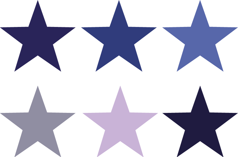 TenStickers. Blue Stars Decorative Stickers. Personalise your home with this design from our star wall stickers collection showing many small stars in various tones.