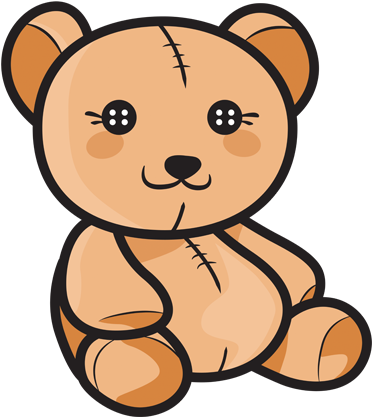 kids teddy bear colour decal tenstickers