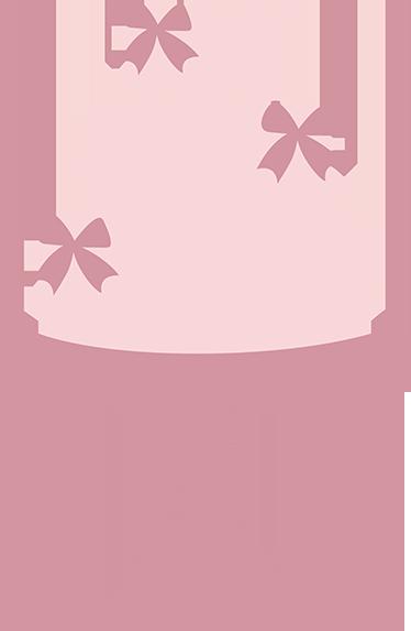 TENSTICKERS. ピンク3層ケーキデカール. ケーキ-弓で飾られた3段ケーキのピンクのパステルイラスト。キッチンやビジネスに最適な理想的な機能