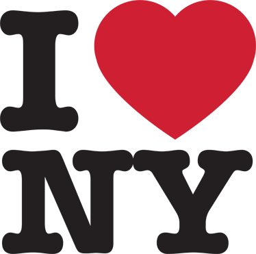 TenStickers. Muursticker tekst I love New York. Deze muursticker is een bekend I Love New York sticker om uw liefde aan deze stad te tonen. Ideaal ter wanddecoratie.