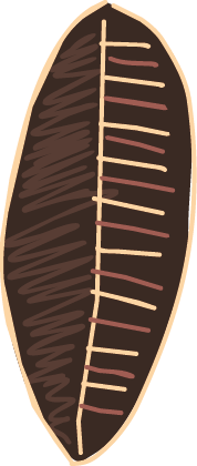 TenStickers. Adesivo de parede escudo africano. Adesivos de parede - desenho ilustração de um escudo africano. Ideal para decorar qualquer ambiente.