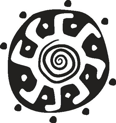 TenStickers. Sticker decorativo sole tribale. Adesivo murale con un'illustrazione tribale del sole. Una decorazione in stile etnico per il tuo soggiorno o la tua camera da letto.