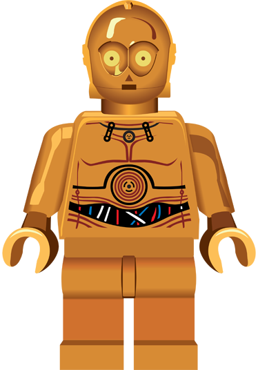 TenStickers. C3PO Lego Kids Sticker. Kids stickers inspired by the fantastic world of Star Wars and Lego toys. A superb decal from our collection of robot wall stickers.