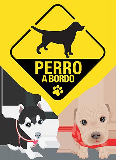 TenVinilo. Stickers perro a bordo. Kit de stickers para los más entusiastas del mejor amigo de hombre, los perros. Decora tus estancias y muestra a todos que lleva el perro en el interior de tu vehículo.