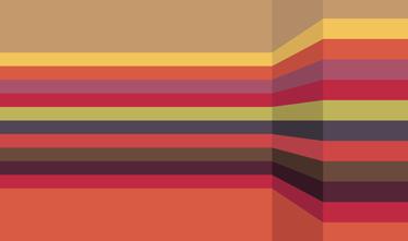 TenStickers. Sticker Lignes 3D. Sticker moderne pour la décoration de votre intérieur qui crée l'illusion d'un espace en trois dimensions.