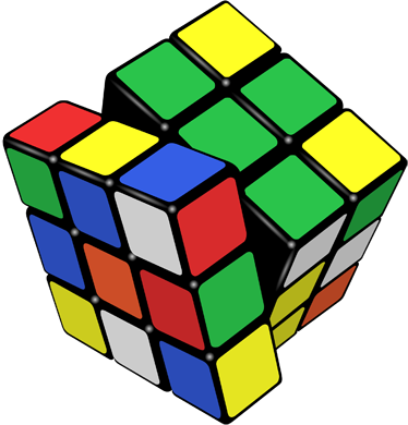 TenStickers. Rubik Cube Sticker. 3D sticker of a classic toy to give a modern look and colour to your home. Brilliant decal to decorate your child´s room.