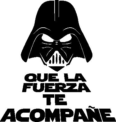 TenVinilo. Vinilo retrete Vader que la fuerza. Para los fans de la saga de Star Wars, fantástico vinilo divertido para decorar tu retrete y una graciosa y original frase.