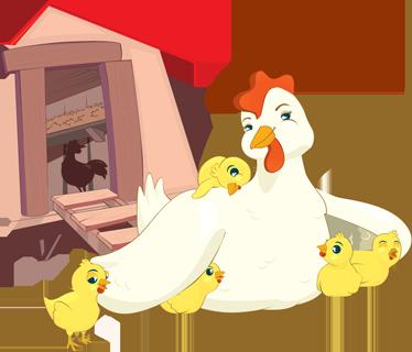 TenStickers. Sticker kip met kuikentjes. Gek op pasen? Dan wil je zeker deze muursticker hebben met een moeder kip met haar kleine lieve kuikentjes.