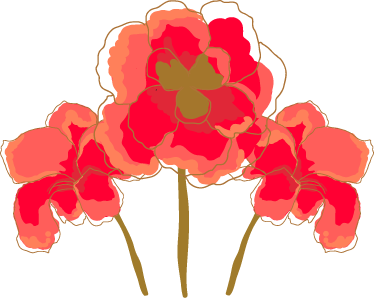 TenStickers. Poppies Decorative Decal. Floral decorative decal in which we can see three precious poppies from our collection of poppy wall stickers.