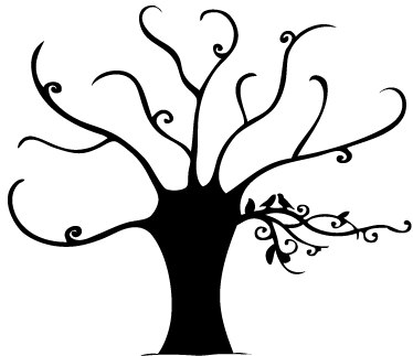 TenStickers. Elegant Tree Decorative Decal. Original decal illustrating an elegant tree. Decorate any room in your home with this special vinyl sticker fully customisable in sizes and colours.