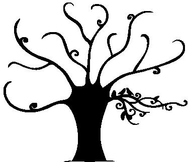 TenStickers. Sticker arbre élégant. Sticker décoratif original d'un bel arbre aux branches élégantes.
