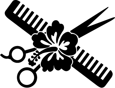 a66c72c346088 Vinilo decorativo flor tijeras peine - TenVinilo