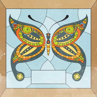 TenStickers. Butterfly Glass Window Sticker. Translucent vinyl decal illustrating a beautiful butterfly. Give a special touch to any room by placing this glass sticker on your window.