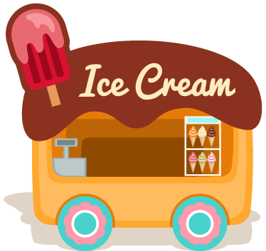 TenStickers. Ice Cream Van Sticker.  Decal of an ice cream van that serves many different delicious flavours. An Ice Cream Wall Sticker to place in a kitchen or in a food business. Sign up for 10% off.