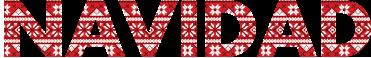 """TenVinilo. Vinilos de navidad palabra con textura. Vinilos decorativos navideños en los que la palabra """"Navidad"""" se dibuja con una textura."""